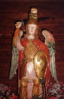 Detalle de San Miguel Arcángel de Tazacorte.