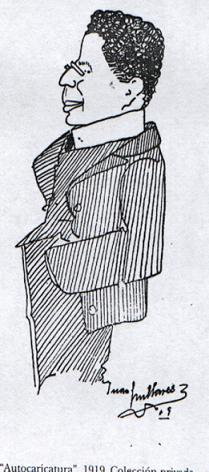 Retrato del poeta modernista canario Saulo Torón, realizado por Juan Millares Carló.
