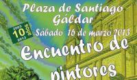 Encuentro de pintores en la Plaza de Santiago. 10 años de Infonorte