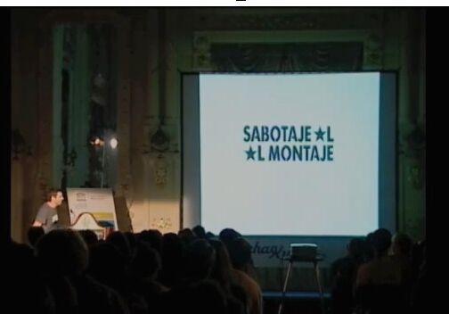 """""""Sabotaje Al Montaje"""". Por Matías Mata (graffitero)"""