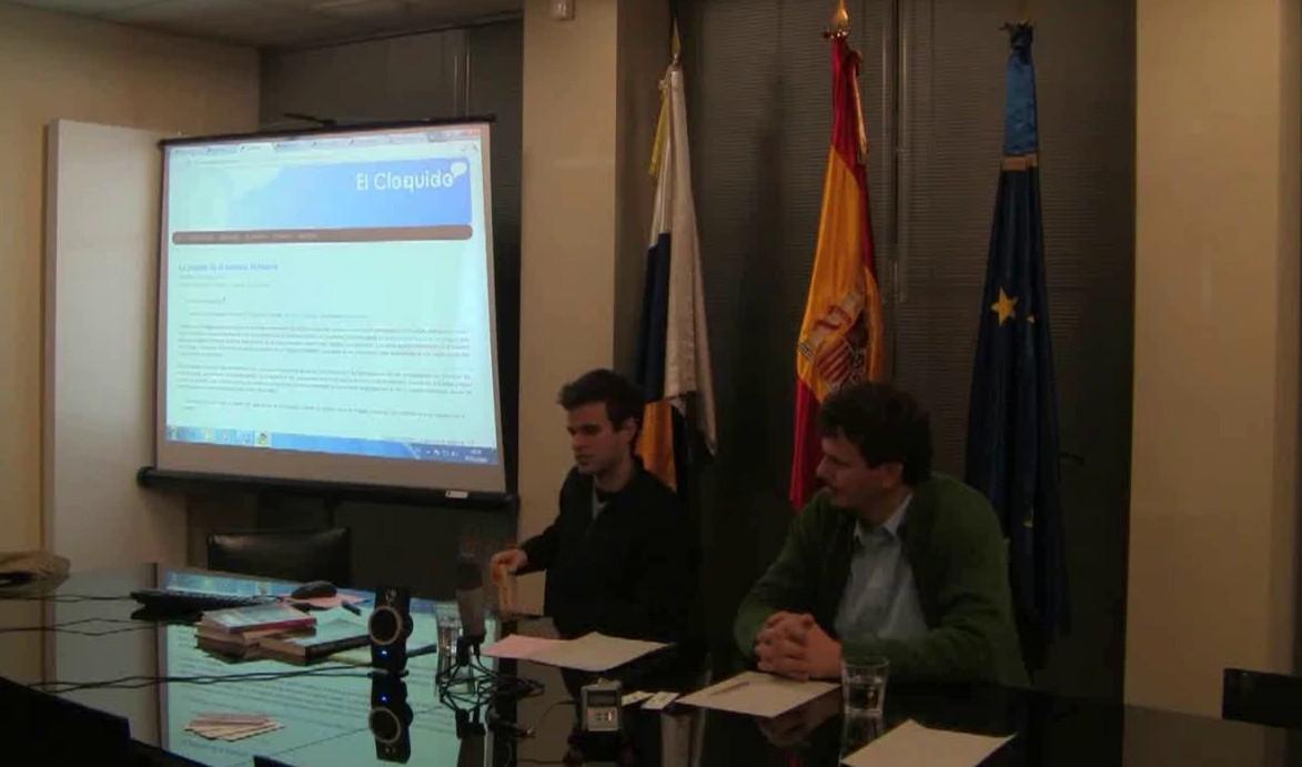 """Presentación de la web canaria """"El Cloquido"""" en Bruselas"""